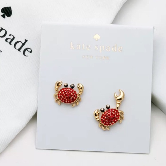 dcd63b94d2b1b 🛍 Shore Things Pave crab Kate Spade Earrings Boutique